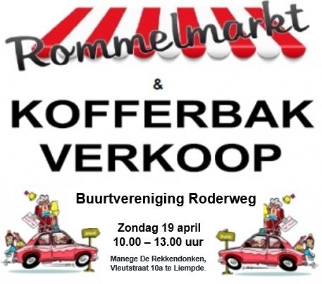 Rommelmarkt / kofferbaksale 19 april bij Manege De Rekkendonken.